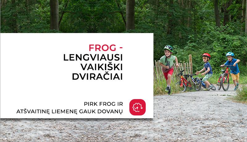 Frog vaikiški dviračiai