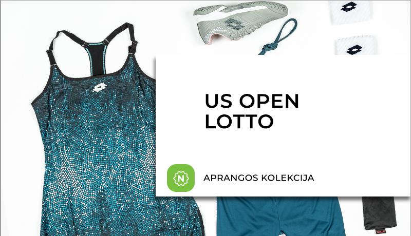 Nauja LOTTO teniso aprangos ir batelių kolekcija