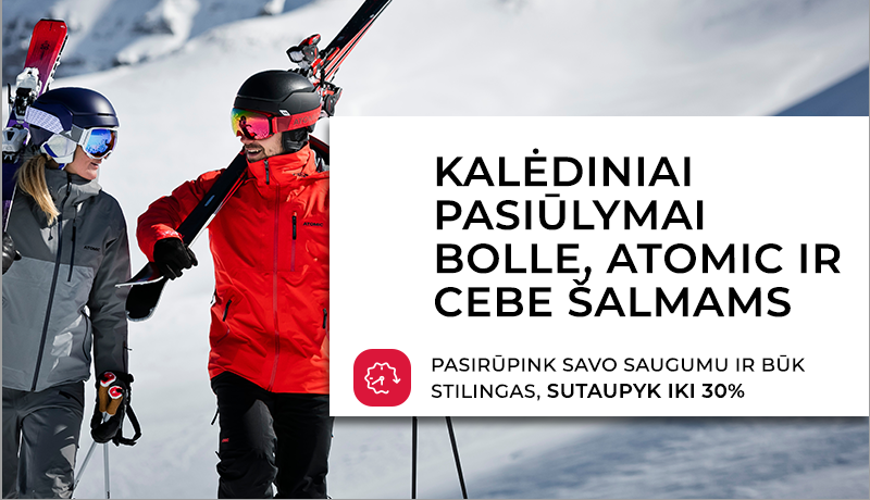 Kalėdiniai pasiūlymai - slidinėjimo šalmai