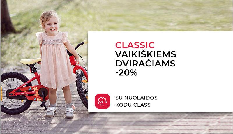 Vaikiški Classic dviračiai