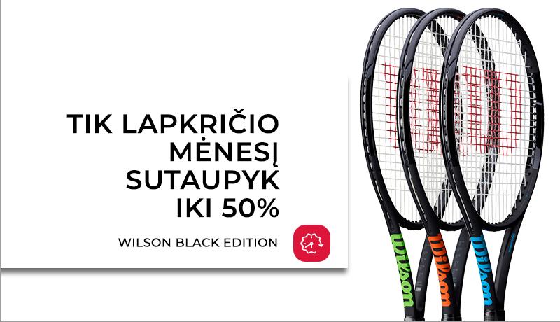 WILSON Black Edition teniso raketės